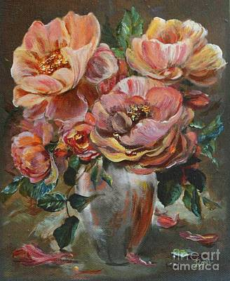 Painting - Salmon Rose by Ryn Shell