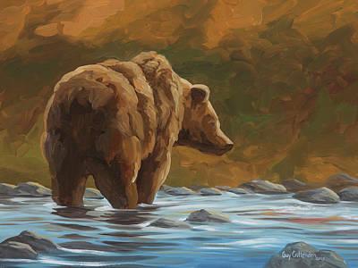 Wall Art - Painting - Salmon Run by Guy Crittenden