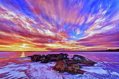Salmon Sunrise Art Print by ABeautifulSky Photography