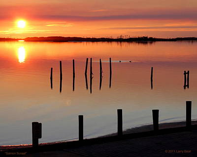 Photograph - Salmon Sunset by Larry Beat