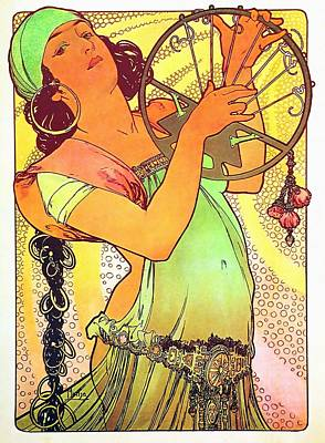 Painting - Salome by Alphonse Mucha