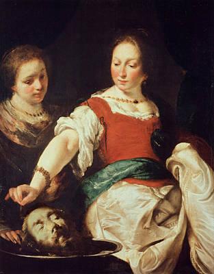 Painting - Salome by Bernardo Strozzi