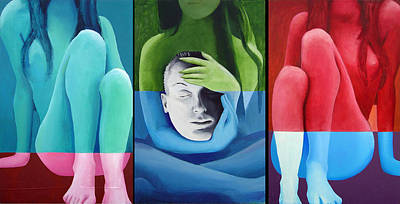 Painting - Salome Triptych by Geoff Greene