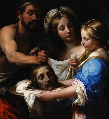 Salome With The Head Of Saint John The Baptist Print by Onorio Marinari