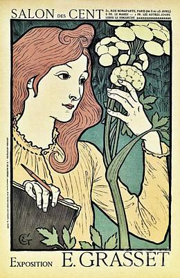 Salon Des Cent 1894 Grasset Art Print
