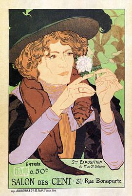 Mixed Media - Salon Des Cent, 31 Rue Bonaparte, Paris - Vintage Exposition Poster By Georges De Feure by Studio Grafiikka