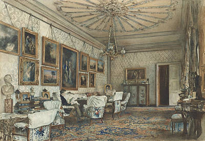 Salon In The Apartment Of Count Lanckoronski In Vienna Art Print