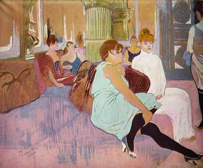 Prostitution Painting - Salon In The Rue Des Moulins  by Toulouse Lautrec
