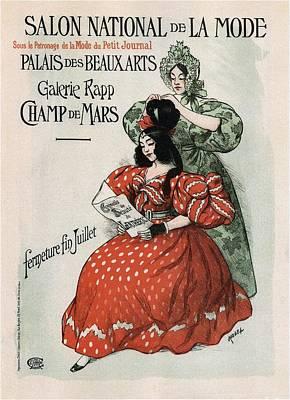 Mixed Media - Salon National De La Mode - Palais Des Beaux Arts - Art Nouveau Exposition Poster - Paris by Studio Grafiikka