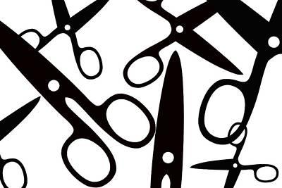 Chastity Digital Art - Salon Scissors by Chastity Hoff