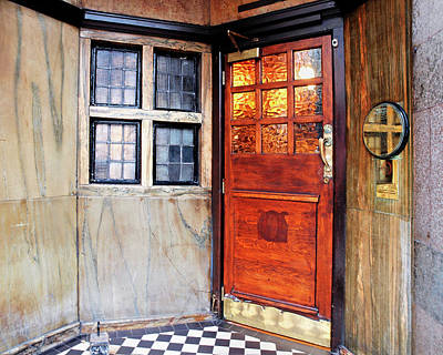 Photograph - Saloon Bar Door - Entrance To The Black Friar London Pub by Gill Billington