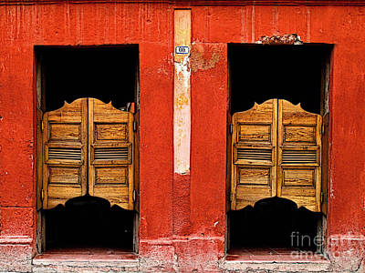 Saloon Door 2 Print by Mexicolors Art Photography
