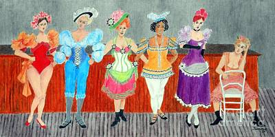 Saloon Sextet -- Portrait 1890's Women In Old West Art Print