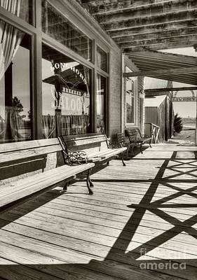 Photograph - Saloon Shadows Sepia Tone by Mel Steinhauer