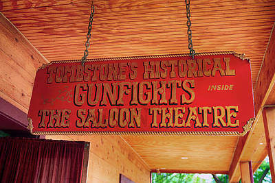 Photograph - Saloon Theatre Tombstone by Chris Smith