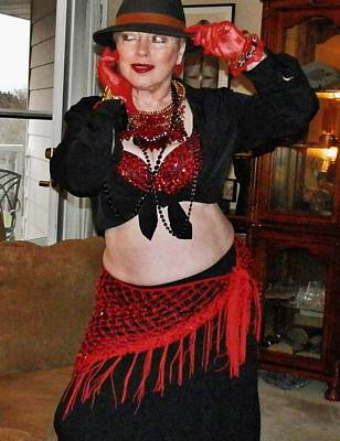 Photograph - Salsa Belly-dancer by VLee Watson