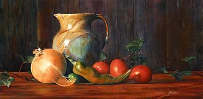 Pepper Painting - Salsa by Joe  Barbieri