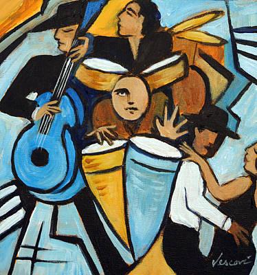 Salsa Night Original by Valerie Vescovi