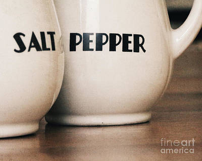 Peppers Photograph - Salt And Pepper by Alison Sherrow