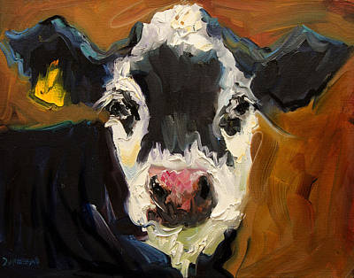Salt And Pepper Cow Art Print