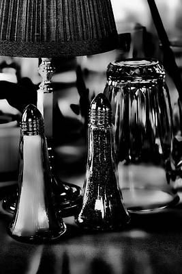Glass Photograph - Salt And Pepper by David Patterson