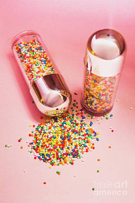 Pink Confetti Photograph - Salt And Pepper Shakers With Confetti by Jorgo Photography - Wall Art Gallery