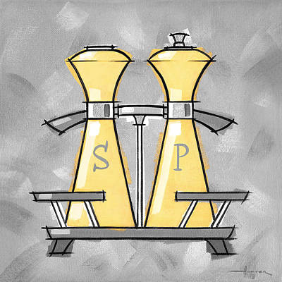 Painting - Salt And Pepper Yellow by Larry Hunter
