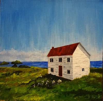 Painting - Saltbox House by Diane Arlitt