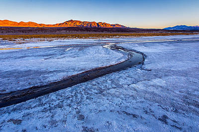 Hdr Landscape Photograph - Salt Creek Death Valley by Peter Tellone