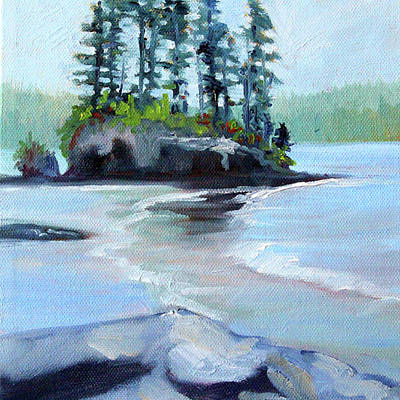 Painting - Salt Creek Study by Nancy Merkle