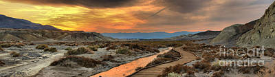 Photograph - Salt Creek Sunset Panoramic by Adam Jewell