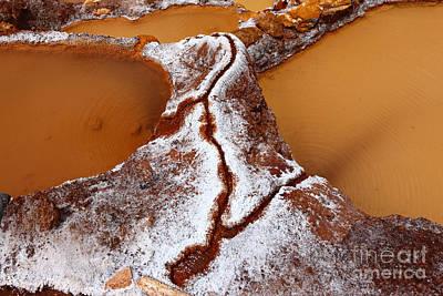 Terracing Photograph - Salt Deposits And Channels Peru by James Brunker