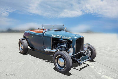 Photograph - Salt Flat Roadster by Keith Hawley