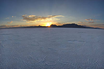 Photograph - Salt Flat Sunset by David Andersen