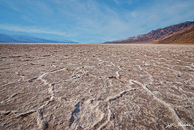 Photograph - Salt Flats At Badwater Basin by Jeff Goulden