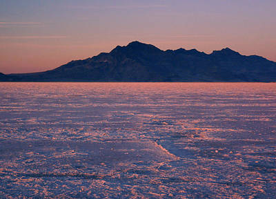 Photograph - Salt Flats Near Wendover, Nv by Michael Balen