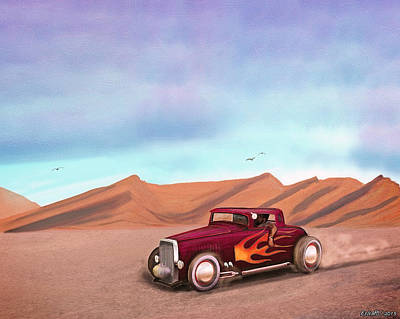 Mooneye Painting - Salt Flats Racer by Ken Morris