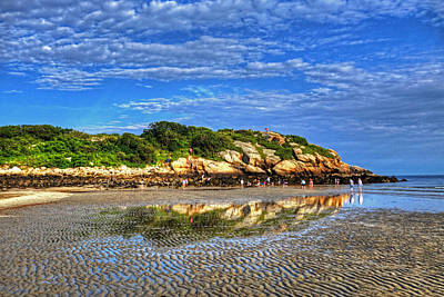 Photograph - Salt Island Off Of Good Harbor Beach Gloucester Ma Reflection by Toby McGuire