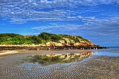 Photograph - Salt Island Off Of Good Harbor Beach Gloucester Ma Reflection by Toby McGuire