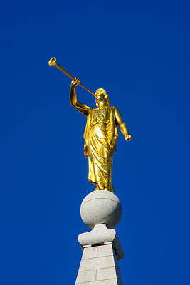 Photograph - Salt Lake City Angel Moroni 2015 by Tikvah's Hope