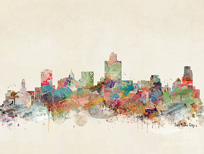Painting - Salt Lake City  by Bleu Bri
