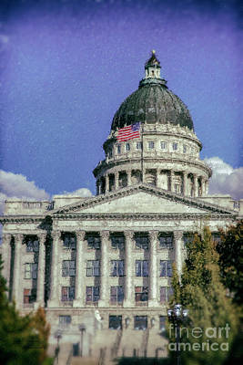 Mixed Media - Salt Lake City Capitol by David Millenheft