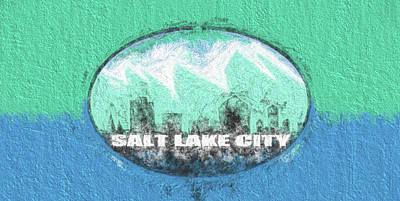 Digital Art - Salt Lake City Flag by JC Findley