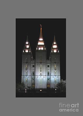 Salt Lake City Temple At Night Original