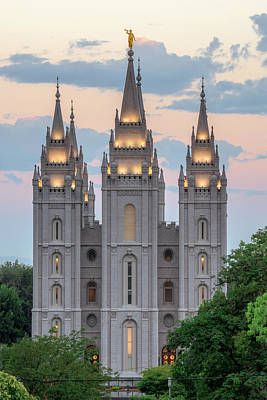 Salt Lake Temple Wall Art - Photograph - Salt Lake City Temple Morning by Dustin  LeFevre