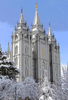 Salt Lake City Utah Lds Temple II Original