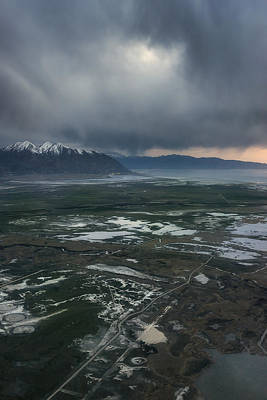 Art Print featuring the photograph Salt Lake Drama by Ryan Manuel