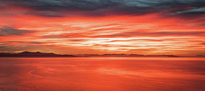 Photograph - Salt Lake Sunset by Johnny Adolphson
