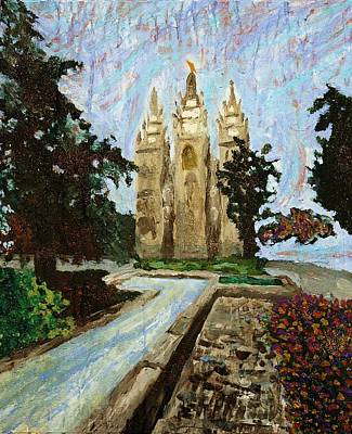 Painting - Salt Lake Temple by April Harker