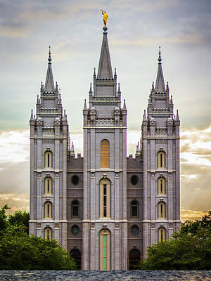 Salt Lake Temple Wall Art - Photograph - Salt Lake Temple At Sunset by Dakota Corbin